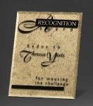 Gold Risk Taker Glass Plaques