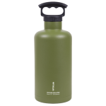 64oz Tank Growler with 3 Finger Grip Cap Olive Green Growlers