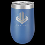 Polar Camel Stemless Tumbler -Blue Insulated Stemless Wine Tumblers 16oz