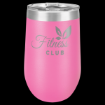 Polar Camel Stemless Tumbler -Pink Insulated Stemless Wine Tumblers 16oz