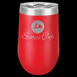 Polar Camel Stemless Tumbler -Red Insulated Stemless Wine Tumblers 16oz