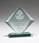 Diamond Series Thick Jade Glass Award Jade Glass Awards