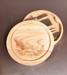 Wood Cutting Boards with Cheese Tools Kitchen Items