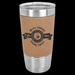 Polar Camel Lasered Leatherette Tumbler -Rawhide Leatherette Items
