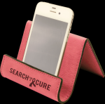 Leatherette Holder/Easel -Pink Leatherette Items