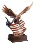 Eagle With Flag  Wing Span Patriotic
