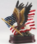 Eagle with American Flag On Base Patriotic