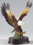 Eagle In Flight On Wood Base Patriotic