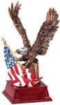 Eagle and Flag Copper With Cherry Base Patriotic