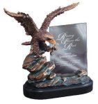 Eagle On Rock With Glass Patriotic