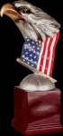 Resin Eagle with Flag and Base Patriotic