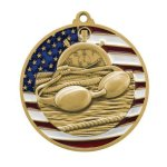 PM Medal -Swimming  Patriotic Medallions