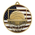 PM Medal -Basketball  Patriotic Medallions