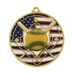PM Medal -Softball  Patriotic Medallions