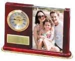 Wood and Glass Photo Clock Photo Gifts