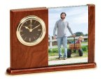 Wood Desk Clock Photo Gifts