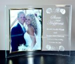 Curved Beveled Glass with Gold Photo Frame Photo Gifts