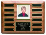 Solid Walnut Perpetual Plaque Photo Perpetual Plaques