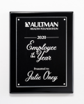 Clear Acrylic Plate on Black High Gloss Plaque Piano Finish Plaques