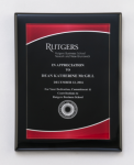 Black Piano Finish Plaque with Red Acrylic Plate Piano Finish Plaques