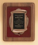 American Walnut Frame with Antique Bronze Casting Plaques