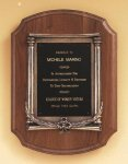 American Walnut Plaque with an Antique Bronze Casting Plaques