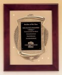 Rosewood Piano Finish Frame Plaque with Cast Relief Plaques