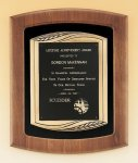 American Walnut Frame Plaque with Antique Bronze Frame Plaques