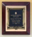 Cherry Finish Wood Frame Plaque with Wreath Plaques