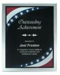 Patriotic Border Clear Acrylic Award Plaque Recognition Plaques