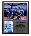 Full-Color Sublimated Black or Cherry Finish Plaque - Always in stock! Sales Awards