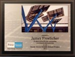 Full-Color Sublimated Black Stained Walnut Plaque Sales Awards