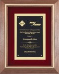 Genuine Walnut Frame with a Satin Finish Sales Awards