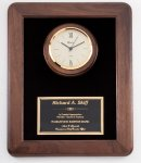 Genuine Walnut Clock Plaque Sales Awards