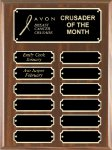 Walnut Finish Perpetual Plaque Sales Awards