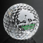 Clipped Golf Ball Sport Crystal