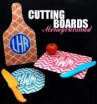 Monogrammed Cutting Boards Teacher Gifts