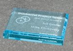 Paper Weight - Straight Bevel Traditional Acrylic Award Series