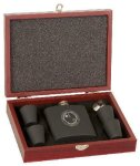 Rosewood Finish Flask Gift Set Wedding Gifts