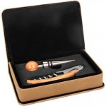 Leatherette 2 Piece Wine Tool Set -Light Brown Wine Gifts