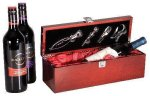 Single Wine Box With Tools -Rosewood Piano Finish Wood Gift Boxes