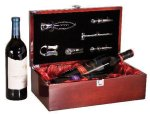 Rosewood Piano Finish Double Bottle Wine Box With Tools Wood Gift Boxes