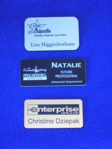 Engraved Plastic Badges IN OUR SHOWROOM